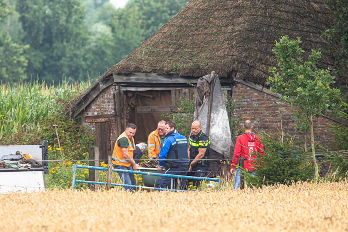 De schaapskooi aan de  Peter van den Breemenweg waar de zwerver woonde werd in augustus ontruimd.