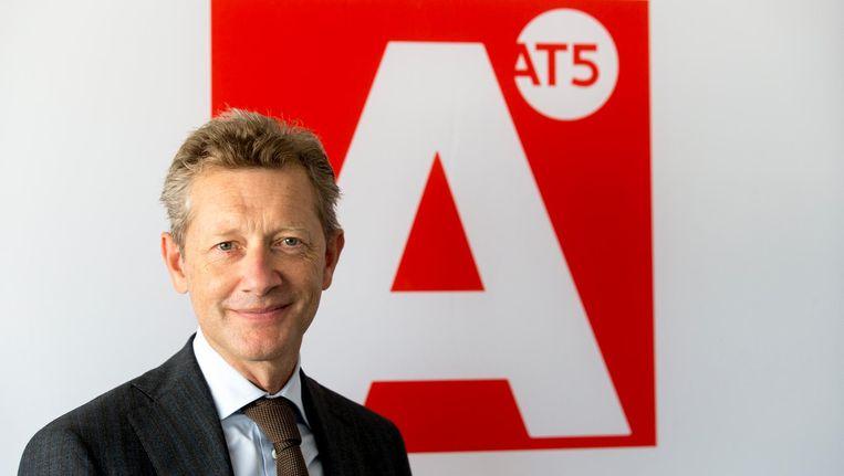 Paul van Gessel. Onder Van Gessel verschoof de nadruk bij AT5 naar online en daalde de kwaliteit van het aanbod op televisie Beeld ANP