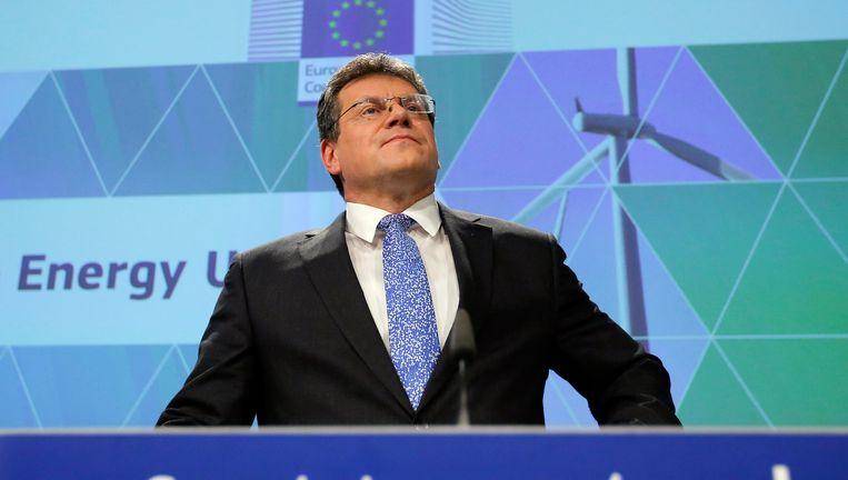 Maros Sefcovic, vice-president van de Energie-Unie van de Europese Commissie.