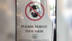 Amerikaanse winkel verbiedt klanten een mondmasker te dragen