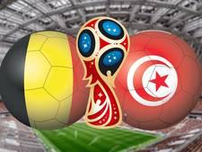 LIVE: België treedt ongewijzigd aan tegen Tunesië