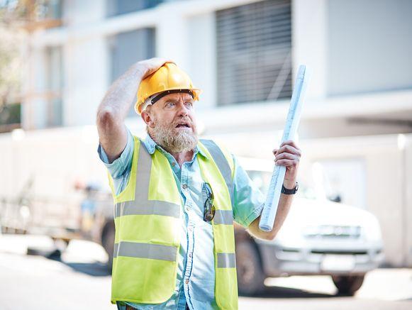 Niet iedereen neemt het altijd even nauw met de veiligheidsvoorschriften op een werf: in 2016 gebeurden er 15.000 arbeidsongevallen in de bouw.