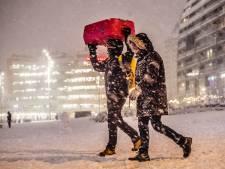 Zo zag Rotterdam er een jaar geleden uit: bedekt onder een dikke laag sneeuw