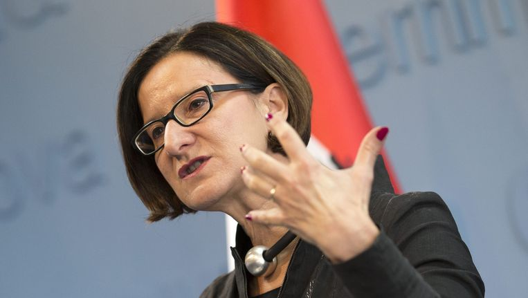 Minister van Binnenlandse Zaken Johanna Mikl-Leitner. Beeld epa