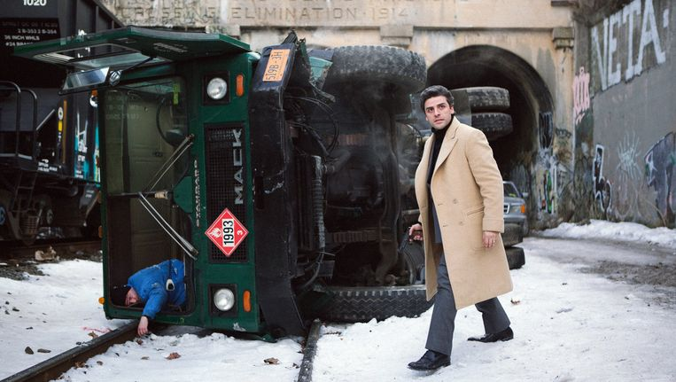 Oscar Isaac (Abel) in A Most Violent Year. Beeld -