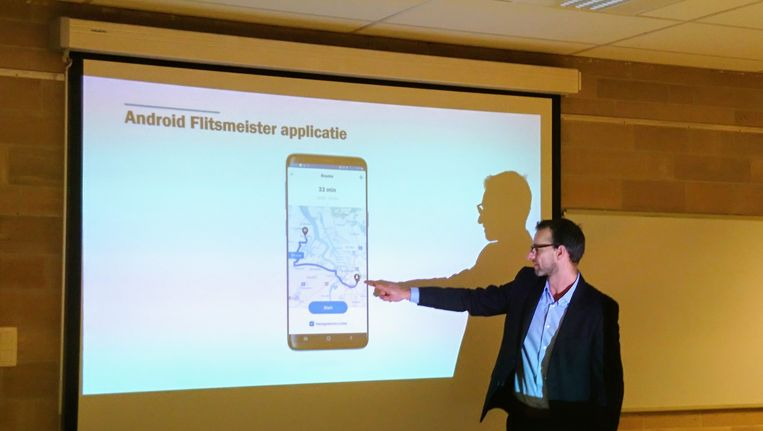 De voorstelling van de Android Flitsmeister applicatie.