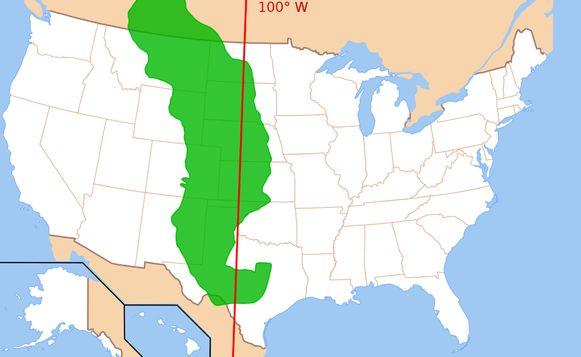 De Great Plains is een gebied dat zich uitstrekt van de staat Texas in het zuiden van de VS, tot in Canada in het noorden.