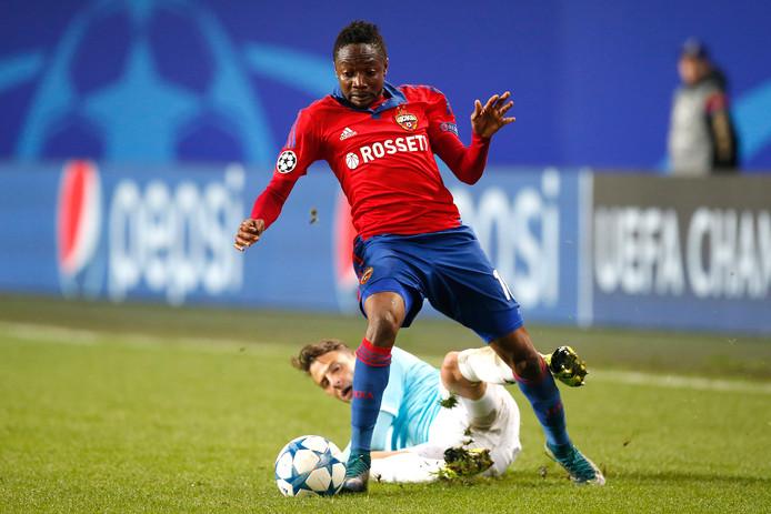 In het seizoen 2015-2016 kwam Arias met PSV uit in het hoofdtoernooi van de Champions League. In poule B waren Manchester United, CSKA Moskou en VfL Wolfsburg de tegenstanders. Door onder meer thuis te winnen van United en uit een punt te pakken overleefde PSV de groepsfase. Arias speelde in vier van de zes groepswedstrijden mee: in de thuiswedstrijd tegen CSKA kreeg hij door deze overtreding op Ahmed Musa zijn tweede gele kaart: zijn eerste rode kaart in dienst van PSV. Ook de uitwedstrijd tegen CSKA miste hij door een schorsing.