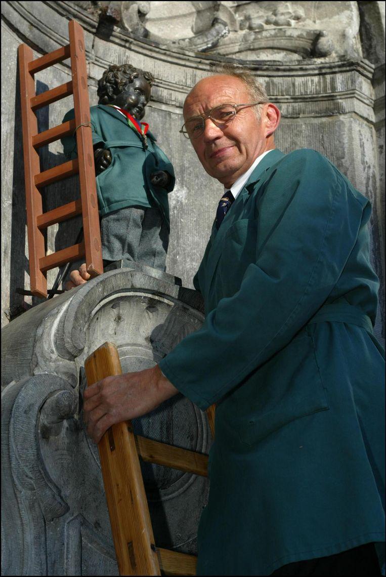 Jacques Stroobants in zijn laatste jaar als officiële 'aankleder'.