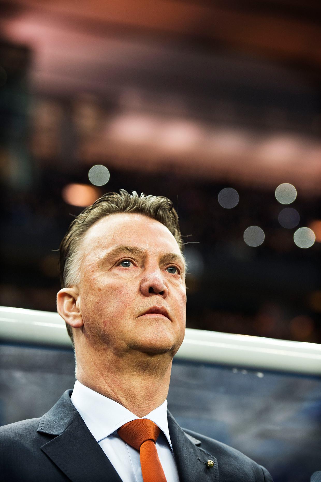 Louis van Gaal als bondscoach van het Nederlands elftal in 2014.