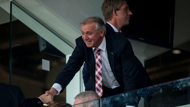 Willy van der Kuijlen op de eretribune bij PSV. Beeld pro shots