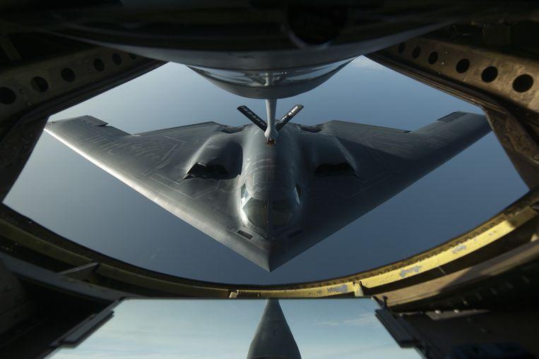 De B-2 is een cruciaal onderdeel van het nucleaire arsenaal van de VS. De langeafstandsbommenwerper kan onder andere nucleaire Tomahawk-raketten afvuren. Beeld US Air Force