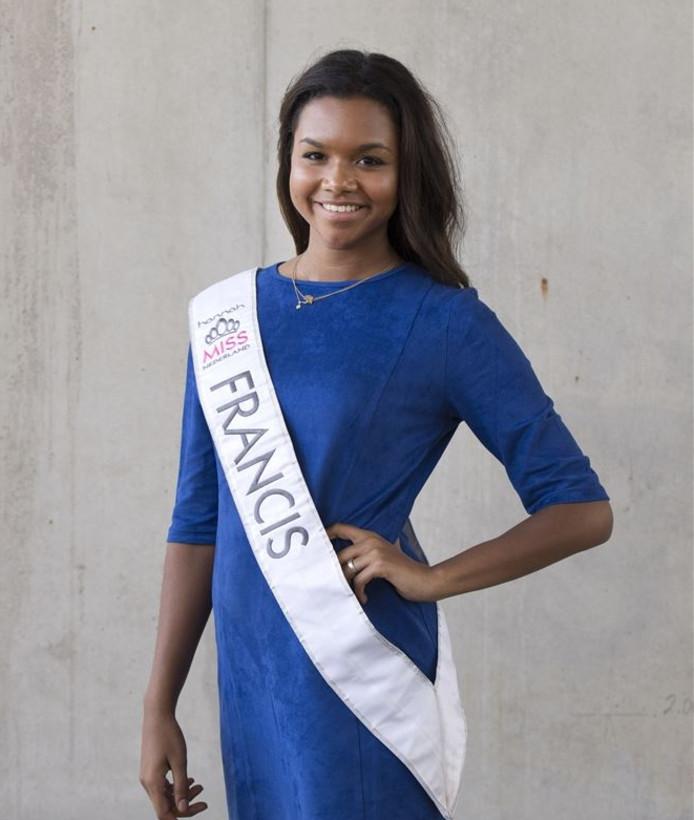 Francis Everduim uit Zwolle kan vanavond Miss Nederland worden.