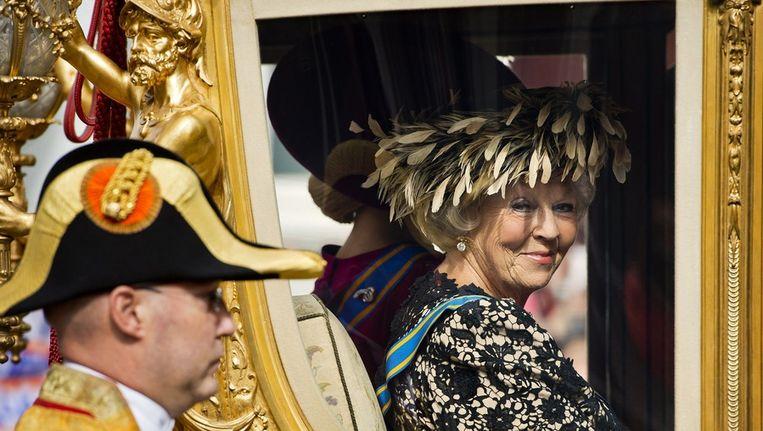 De koningin in de gouden koets Beeld epa