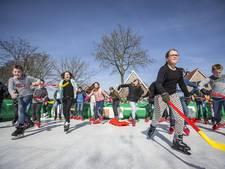 Lente? In Vriezenveen kon je vandaag nog schaatsen!