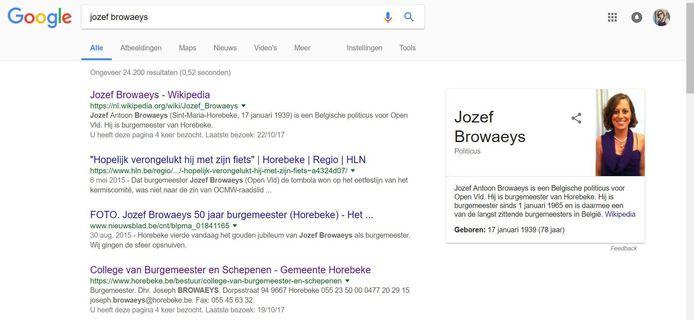 Bij de biografie van Jozef Browaeys op Wikipedia, staat een foto van zijn dochter Cynthia.