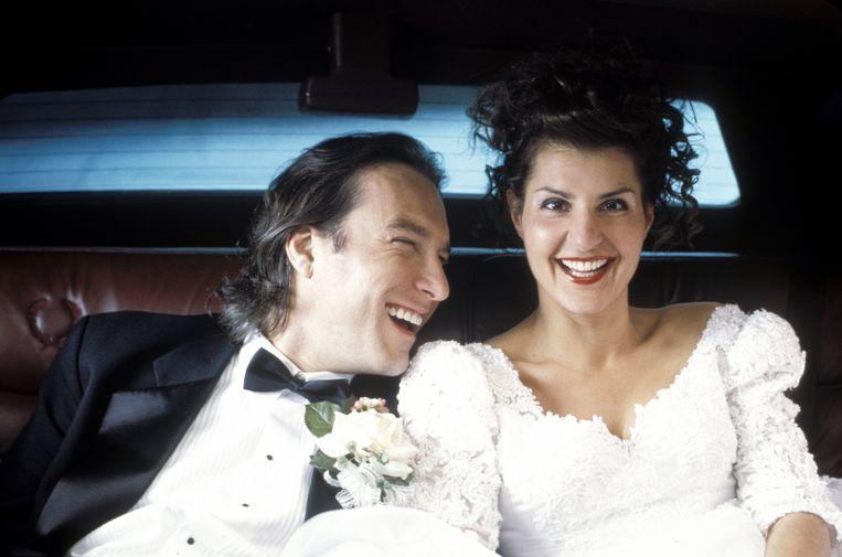 John Corbett en Nia Vardalos in 'My Big Fat Greek Wedding'