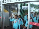 Kersverse kampioenen landen op Rotterdam Airport
