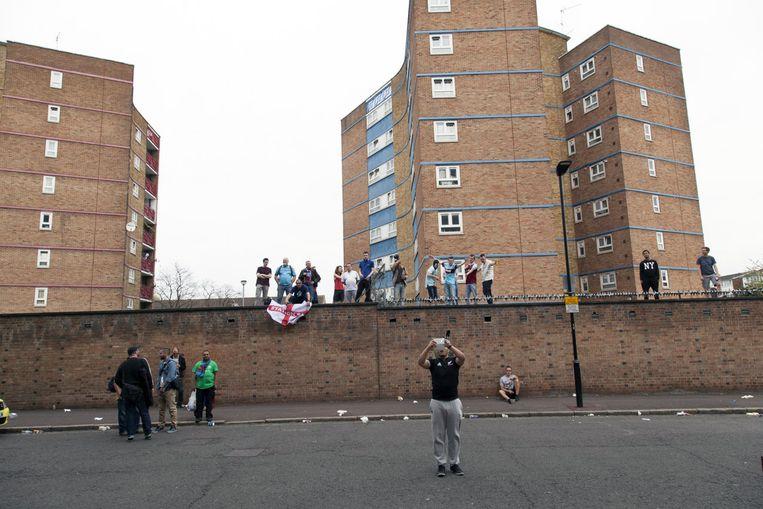 Het muurtje achter de West Stand Beeld Rechtenvrij
