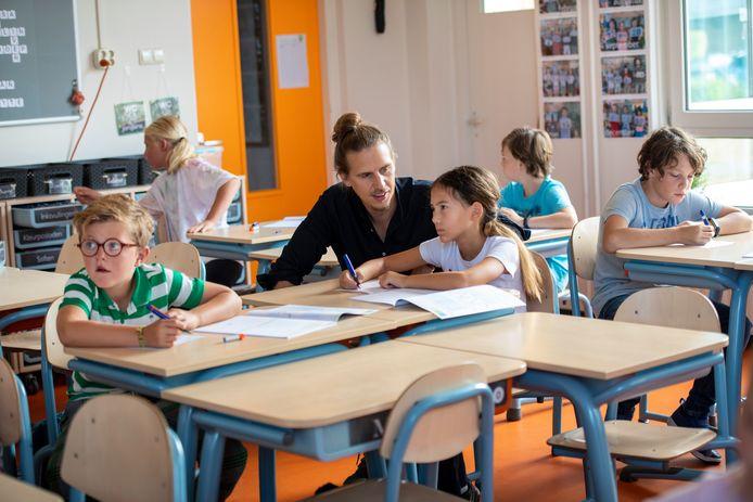 Lessituatie op een basisschool bij groep 6