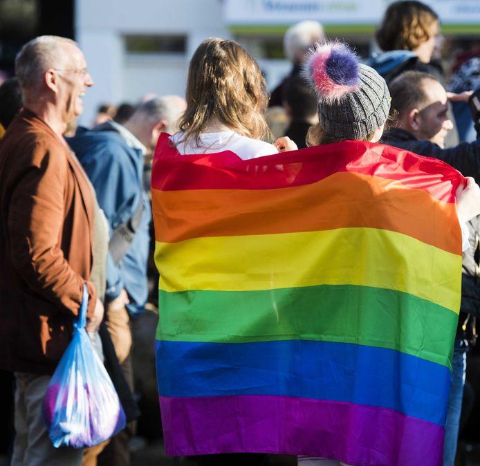 Demonstratie tegen homogeweld.