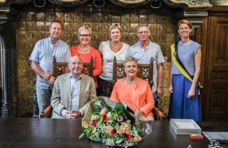 Kortrijk diamant Frans Vandenbroucke en Monique Lannoy