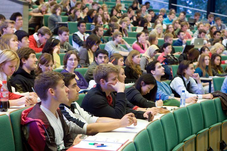 Studenten in de collegezaal Beeld ANP