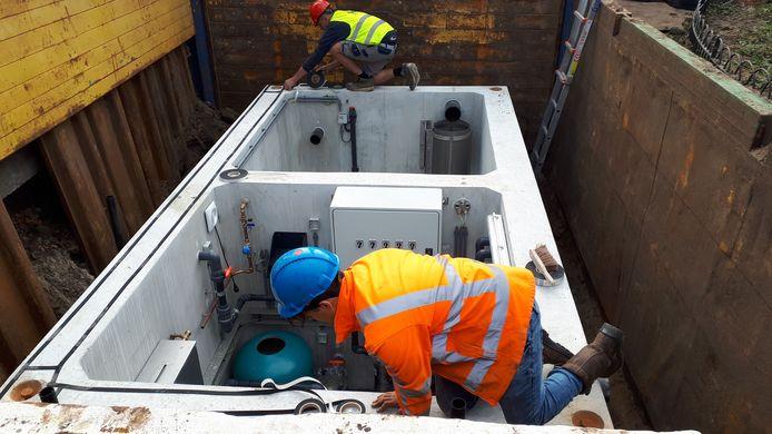 De nieuwe waterput heeft een betere scheiding tussen het waterbassin en de technische ruimte.