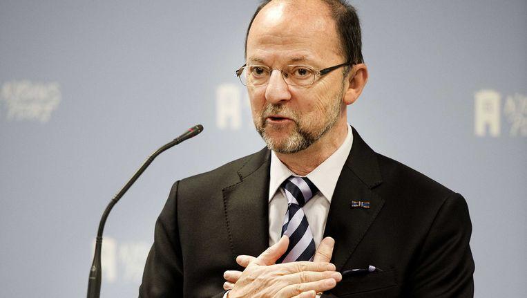 Paul Schnabel, tijdens een toelichting op het uitgebrachte advies. Beeld ANP