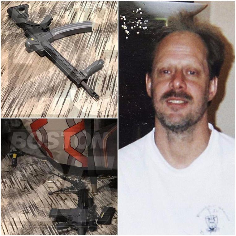 Met tien valiezen had Stephen Paddock maar liefst 23 wapens en honderden kogels naar zijn hotelkamer gebracht, bij hem thuis werden nog eens tal van vuurwapens gevonden.
