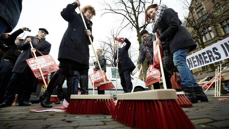 Protest in december vorig jaar tegen de plannen om de Bijstandswet aan te scherpen. Beeld anp