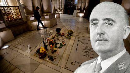 Ruzie om lichaam Franco: familie wil gebalsemde resten nieuw graf geven in kathedraal Madrid, tegenstanders vrezen extreemrechts bedevaartsoord