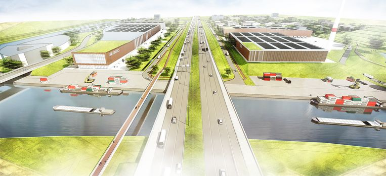Op de westelijke zijde van het bedrijventerrein komt er een industriële ontwikkeling met kaaimuren langs het Scheldekanaal.
