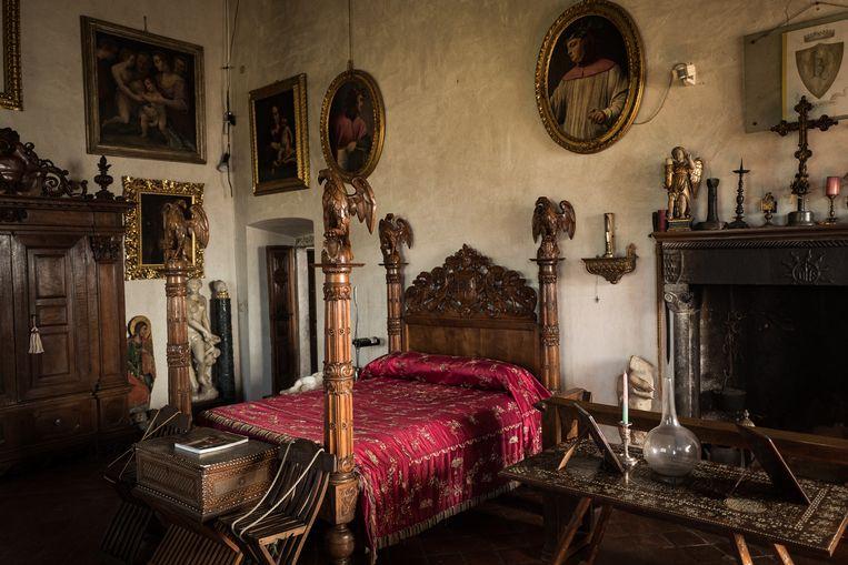 De slaapkamer van Loris Jacopo Bononi, tegenwoordig van Raffaella. Beeld Nicola Zolin