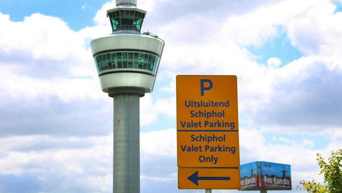 Valet parking bij Schiphol.