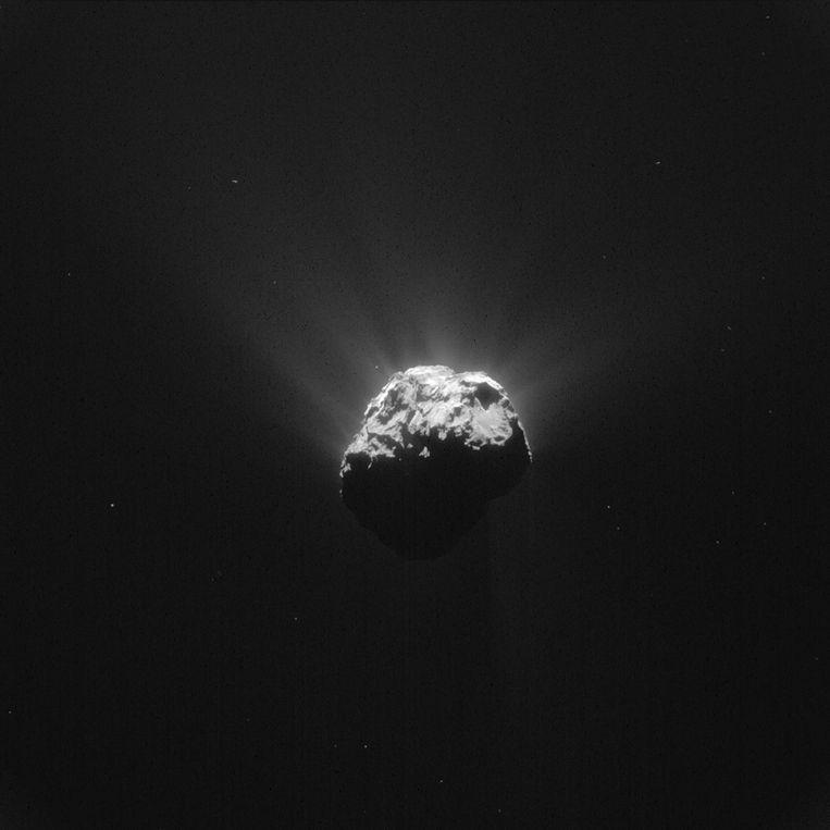 Komeet 67P/Churyumov-Gerasimenko op 13 juni. Beeld reuters
