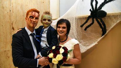 Huwelijk in halloweenstijl