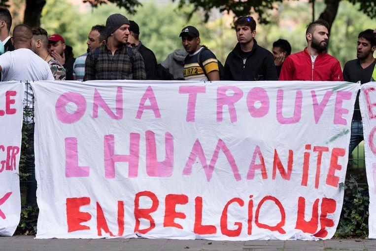 Voor het Commissariaat voor Vluchtelingen en Staatlozen (CGVS) in Brussel vond eind augustus een betoging plaats van Irakese vluchtelingen. Ze vroegen toen een betere bescherming aan de Belgische staat.