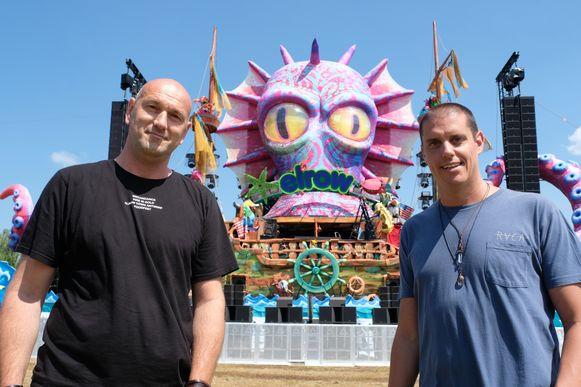 Organisator Wim Vanderborght en Juan Amau Jr., ceo en founder van elrow.