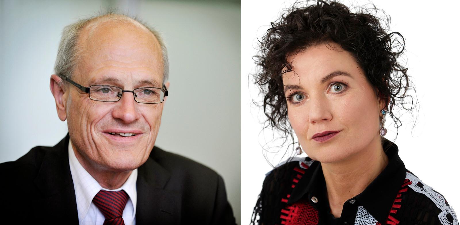 Opmerkelijk in de rechtszaak van donderdag: Gerard Sanderinks (l) geliefde Rian van Rijbroek (r) werd openlijk genoemd als oorzaak van alle problemen.
