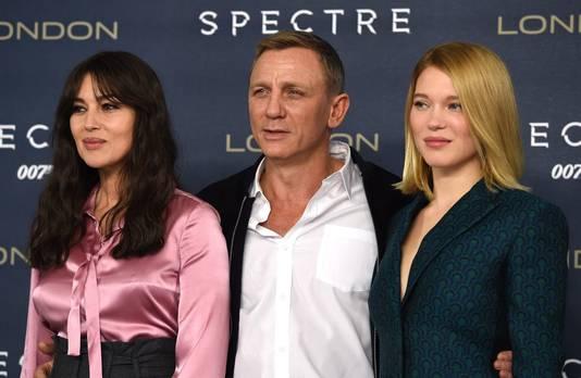 Monica Bellucci, Daniel Craig en Lea Seydoux