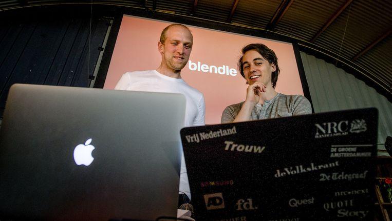 Blendle-oprichters Marten Blankesteijn en Alexander Klöpping Beeld anp