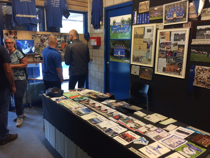 Bij het clubhuis van De Rakt is vanwege het jubileum een tijdelijk 'museum' ingericht over de 50-jarige historie.