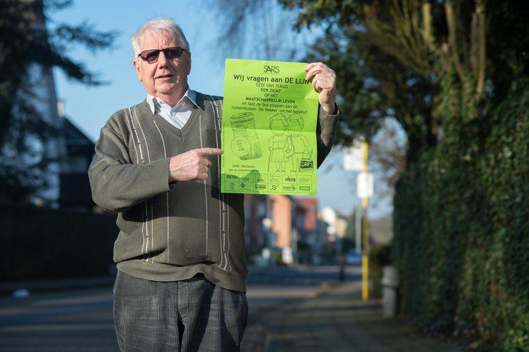 Roger Merckx, voorzitter van de seniorenraad, protesteerde al in 2014 tegen het beleid van De Lijn dat senioren benadeelt. Er is ondertussen amper iets veranderd zegt hij.