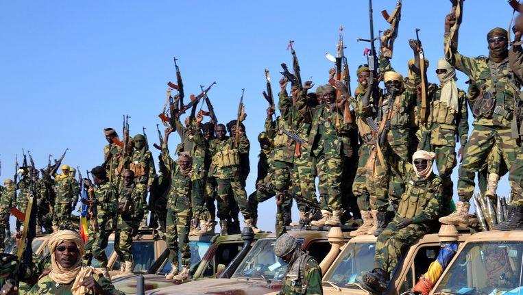 Tsjadische militairen in Nigeria.