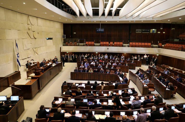 Een zitting van de Knesset.