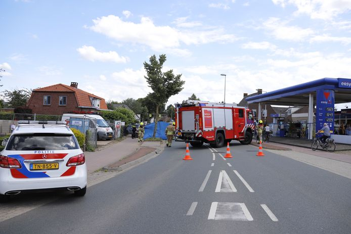 Ongeluk op de Rijksweg in Mook.