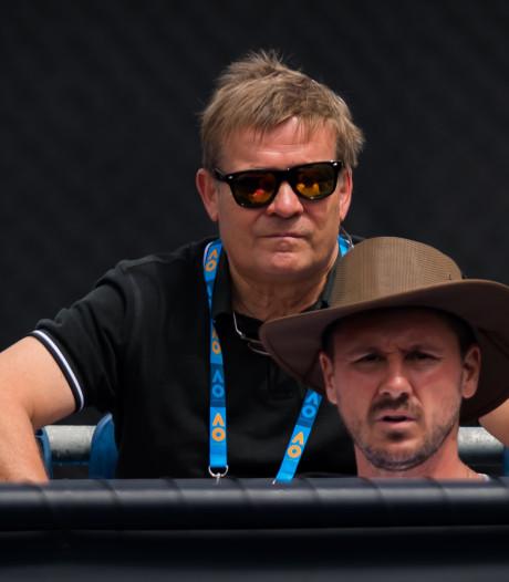Oud-profvoetballer Søren Lerby ziet in Melbourne zoon tennissen