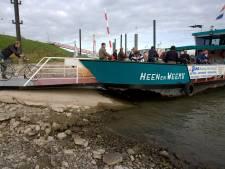 Pontje tussen Millingen en Pannerden vaart niet door laag water
