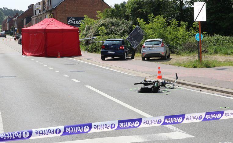 De fietser was op slag dood.